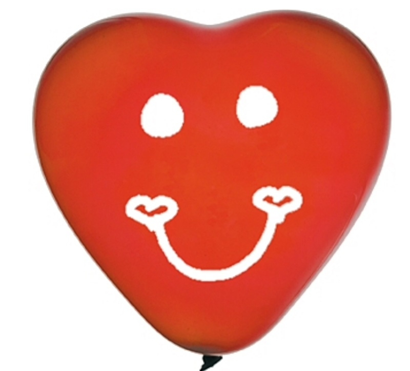 Hart ballon - latex - Rood - 10 Inch / 28cm - 8st.
