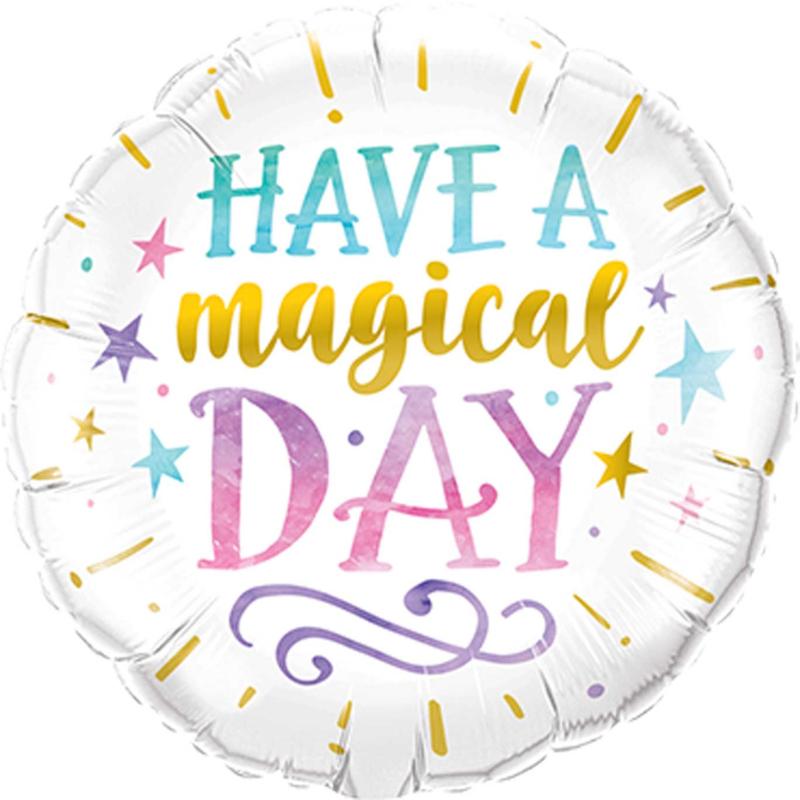 Have a Magical Day - div kleuren - folie ballon - 18 inch/46cm
