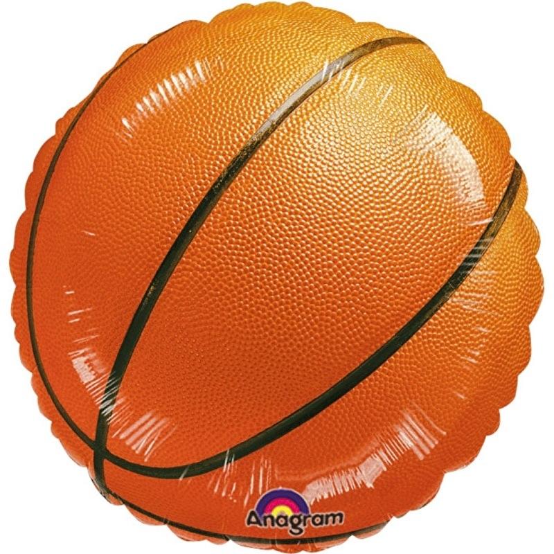 Basketbal - Folie Ballon - 17 Inch/43cm