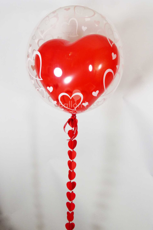 Decoratie Helium Ballon  - Rood Hart  - Harten-24 Inch/60cm