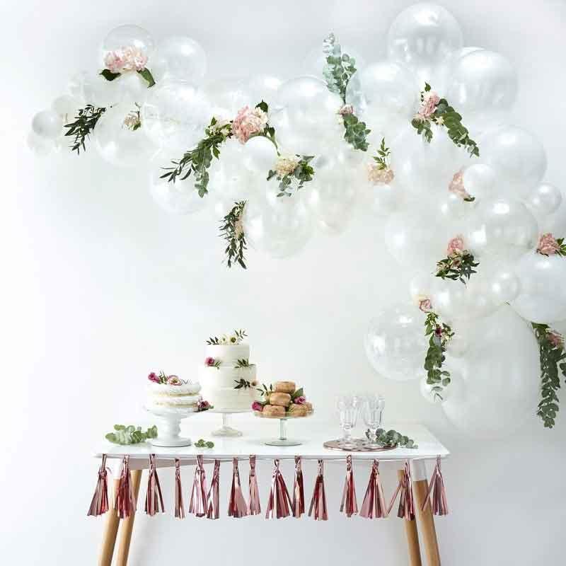 DIY: Witte Ballonnen Boog / Slinger Set - Pearl white, Witte Latex ballonnen - 70 st.
