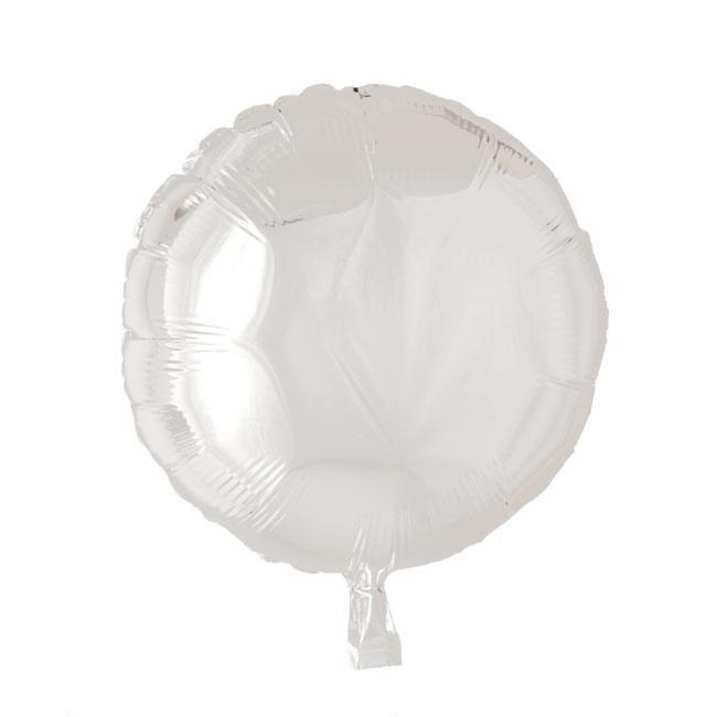 Rond - Wit - Folie Ballon - 18 Inch/ 46cm