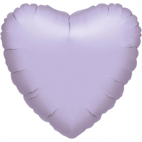 Hart - Pearl Lila - Folie Ballon - 17 Inch / 43 cm