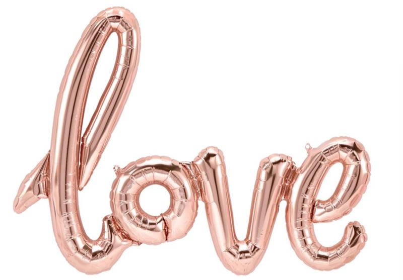 Love ballon - Rose Goud - Handgeschreven - Tekst  Folie Ballon -NorthStar - 40 Inch  - 102 cm ( lucht)