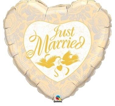 Just Married- Folie Ballon - Goud - 18Inch/45cm