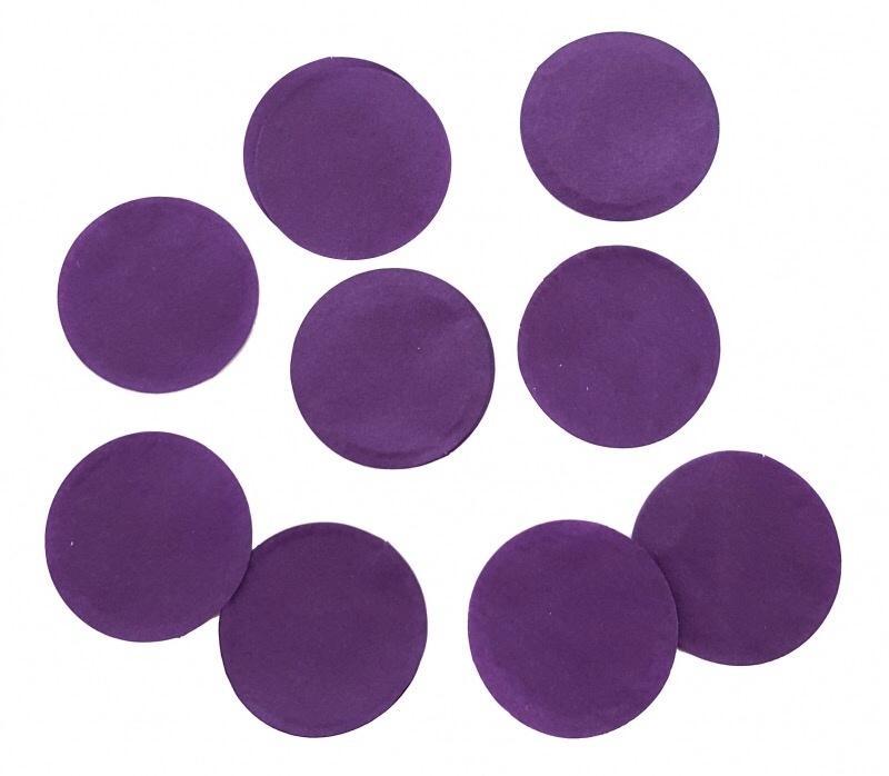 Confetti - Paars - Papier- 2 cm / 15 gr.
