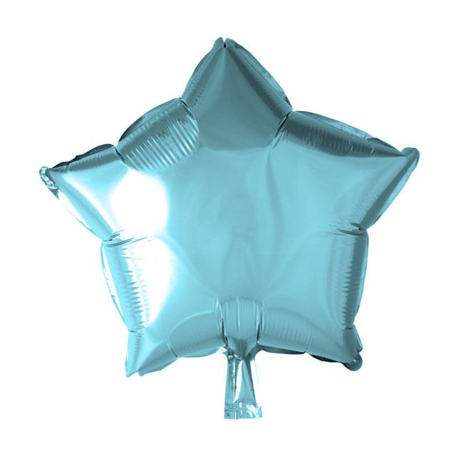 Ster - Licht Blauw - Folie Ballon - 18 Inch/46 cm