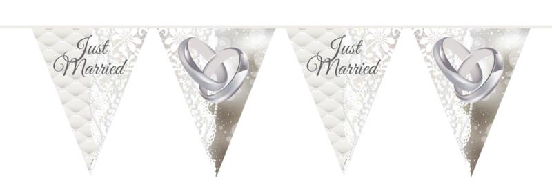 Just Married - vlaggenlijn - 10 m.