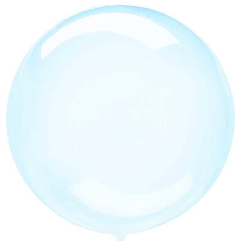 Doorzichtige Blauwe Ballon - 18 inch/ 45 cm