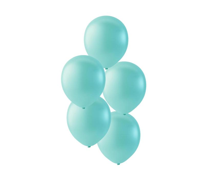 Licht groene ballonnen om te vullen met helium - Metallic licht groen - glans  ballonnen - 30 cm - 5stk