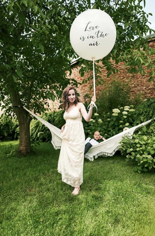 Mega Latexballon Tekst Ballon Love Is In The Air Ballon