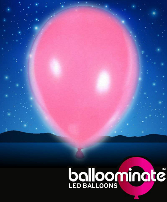 Balloominate - Led Ballonnen - Roze - 5 st./27,5 cm