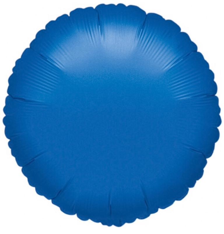 Rond - Blauw - Folie Ballon - 18 Inch/ 45cm