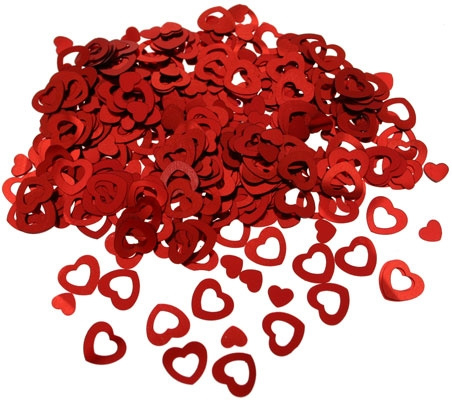 Confetti - Hartjes - Rood Metallic - 14 gr