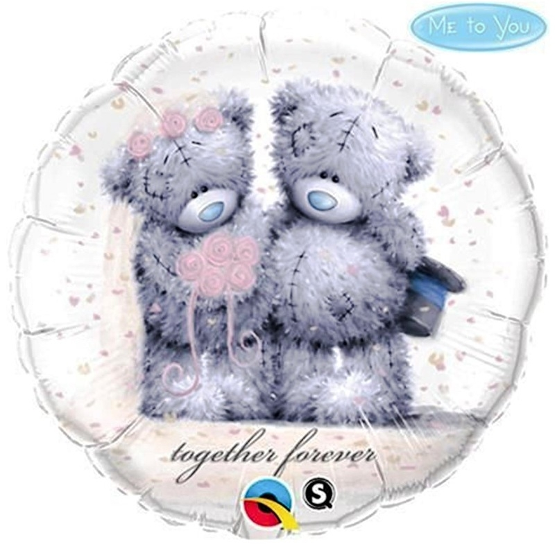 Me to You Teddy - Together Forever - Huwelijk - Folieballon - 18 Inch/46cm
