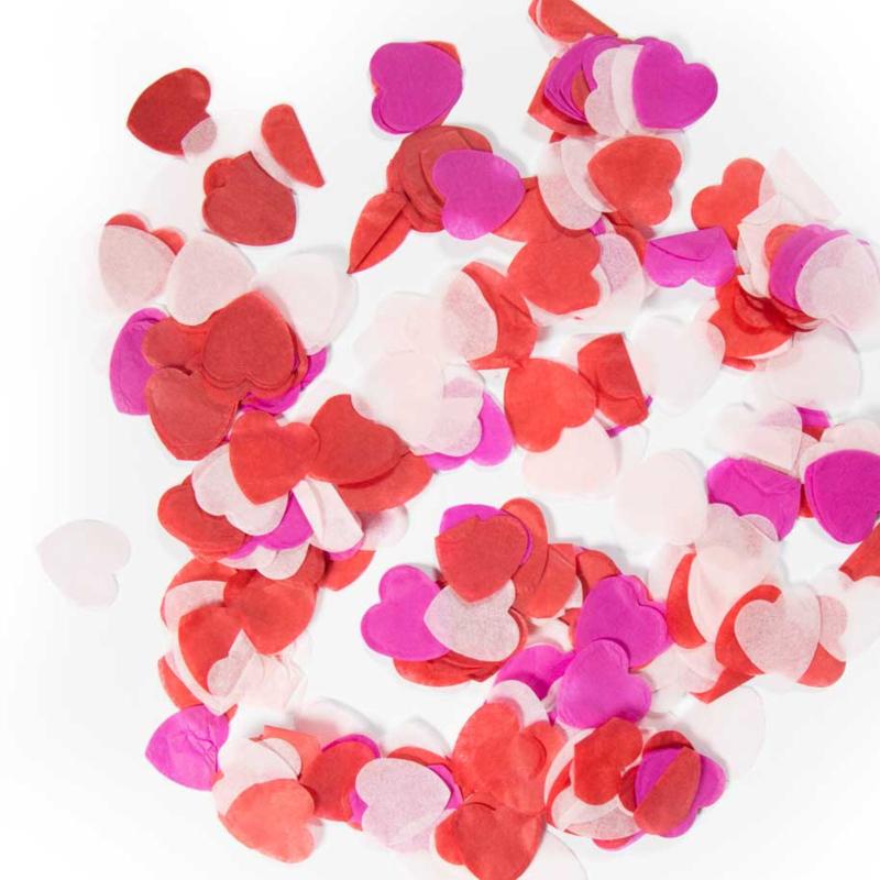 Confetti - Groot - Hartje - Rood / Roze Mix- 14 gr.