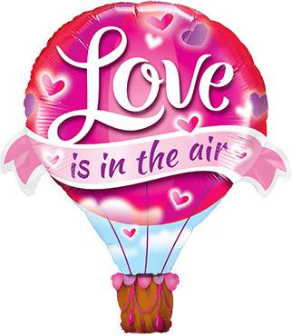 Love is in the air - luchtballon vorm - Folie ballon - 42 inch/ 107 cm