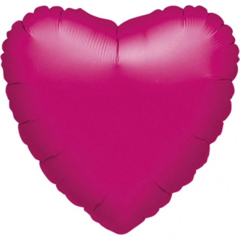 Hart -  Metallic Fuchsia - Folie Ballon - 18 Inch / 45cm