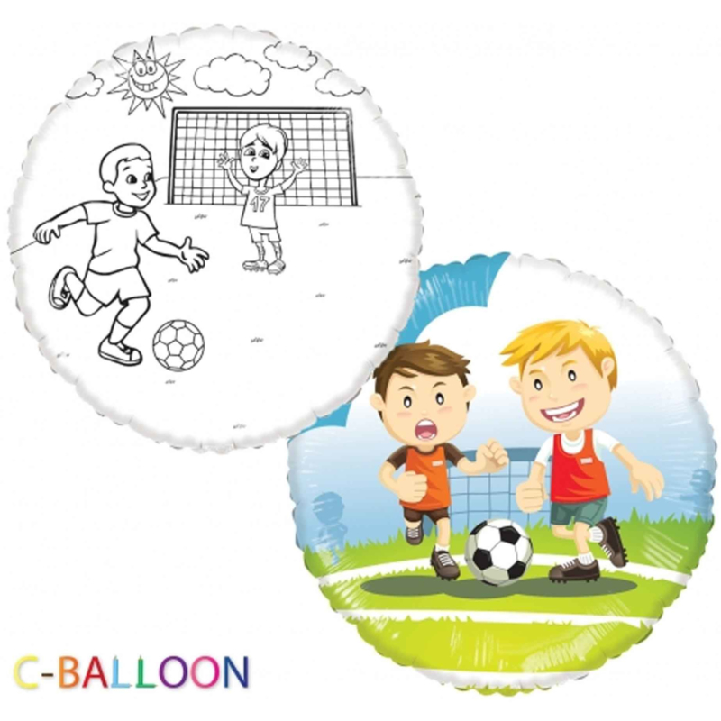 C-Balloon - Voetbal - Folie Ballon - 18 Inch/46 cm