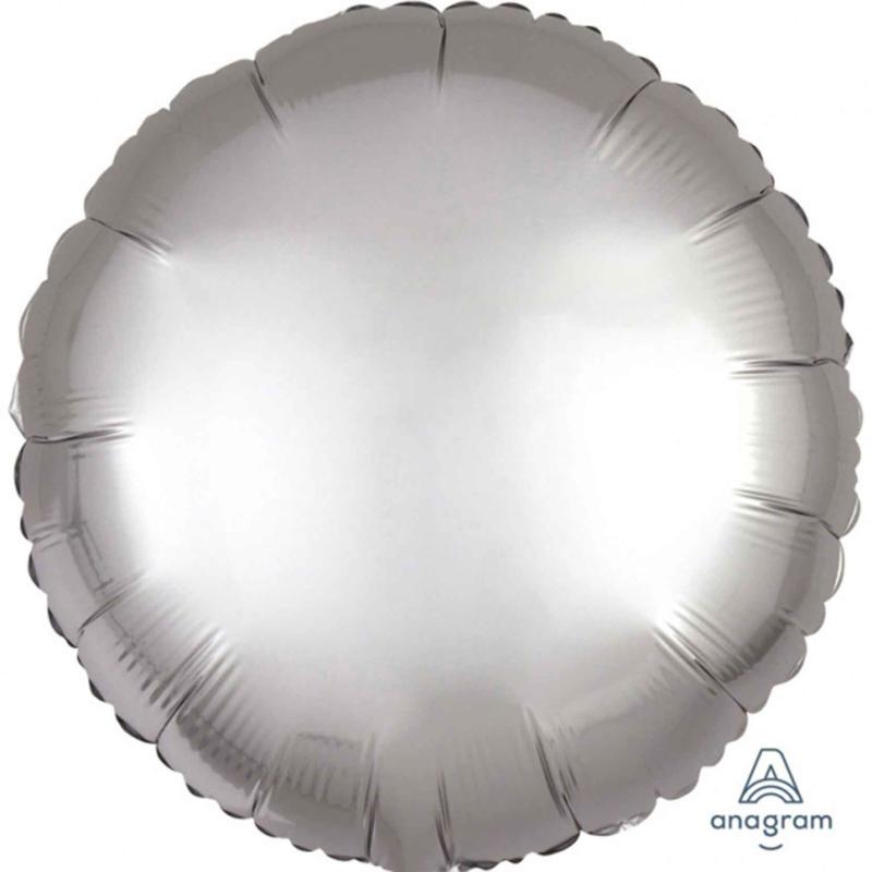 Rond - Satin Luxe Zilver - Folie Ballon - 17 Inch/43 cm