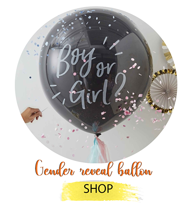 Gender reveal ballon party he or see pop to see