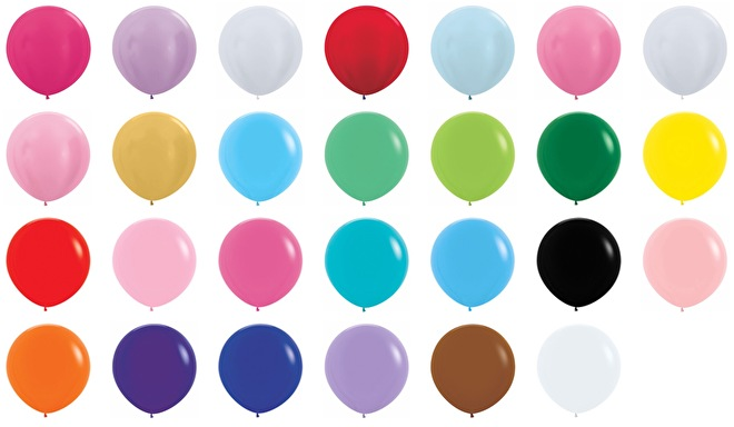Kleuren grote ballonnen XXL helium ballon