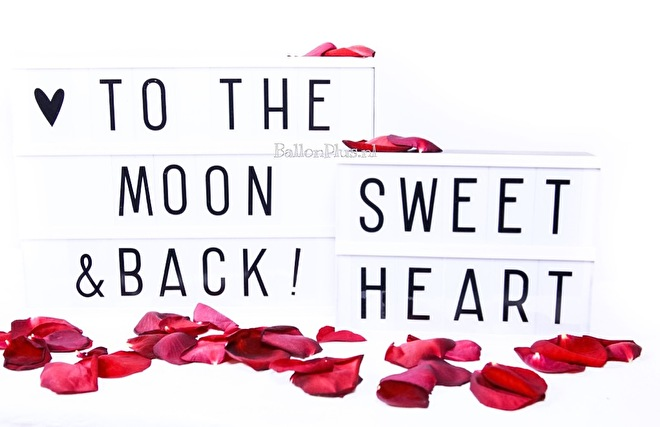 Light Box - A4 - A5 - Sweet Heart - To the moon & back!