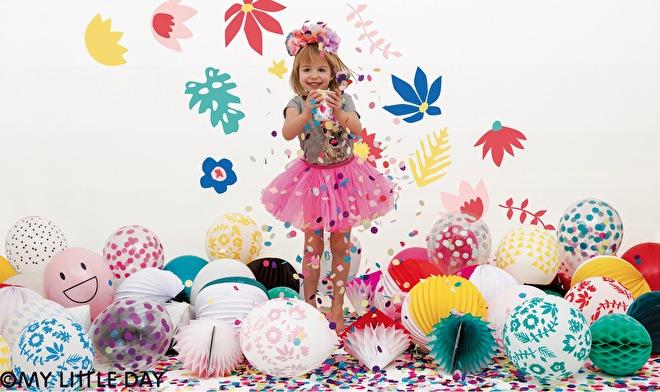 My little day - confetti - cactus - wolkjes - smile gezichtjes - latex ballonnen
