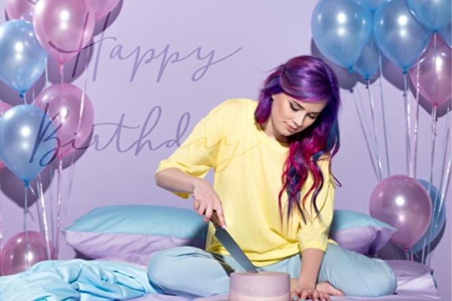 Roze en blauwe latex helium ballonnen
