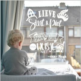 Sint & Piet raamsticker