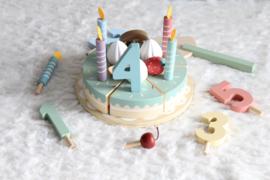 Houten Verjaardagstaart - Little Dutch