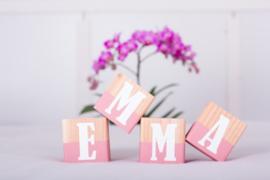 Naamblokken - roze