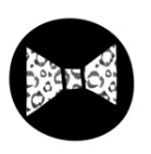 Strijkapplicatie - strik met print