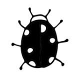 Strijkapplicatie - lieveheersbeestje