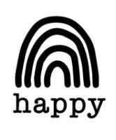 Strijkapplicatie - happy