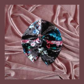 Baby twist tulband | Velvet bloemenprint