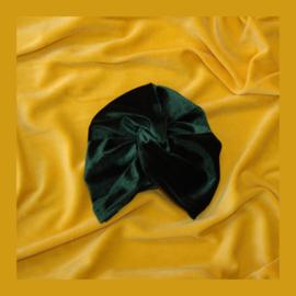 Dames twist tulband | Velvet Donkergroen
