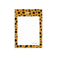 notitieblokje notes met cheetah print