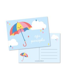 Ansichtkaart, aju paraplu (DL)