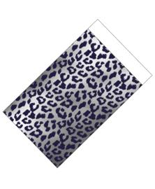 cadeauzakje zilver met cheetah print 12 x 19 cm