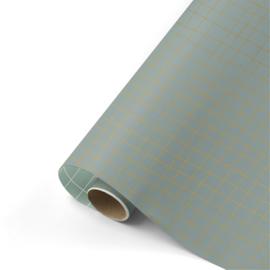 inpakpapier wishing you the best wax/goud/mint  50x 300 cm