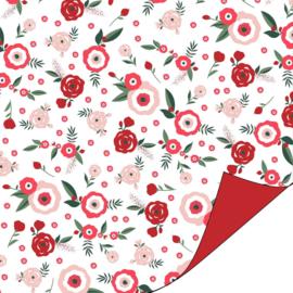Inpakpapier dubbelzijdig; La Vie en Rose