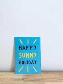 A7 Minikaartje happy sunny holiday