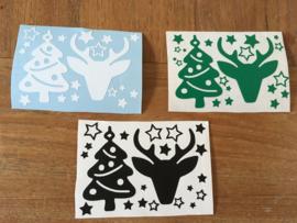 Klein DIY stickervelletje voor de kerstperiode