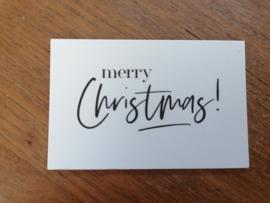Kaartje merry Christmas!