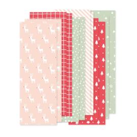 set papierstroken speciaal voor Kerst, 12 stroken