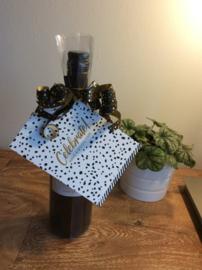 plastic geschenk zak voor bv een wijnfles