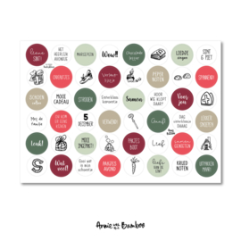 Stickervel met 48 ronde (sluit)stickers Sinterklaas