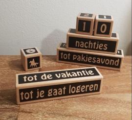Aftelblokjes speciaal voor alle gebeurtenissen rondom  Sinterklaas