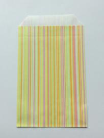 cadeauzakje  vrolijke streepjes 10x15 cm (S)